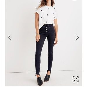 NWT Madewell black skinny jeans